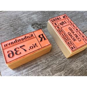 【印章系列】Zakka系鄉村短木柄X專屬訂製/可訂製木頭背印圖案