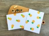 【原創印章系列】《鳳梨》水果套色印章/用小創意玩出大樂趣~獨家限定販售中