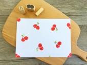 【原創印章系列】《櫻桃》水果套色印章/用小創意玩出大樂趣~獨家限定販售中