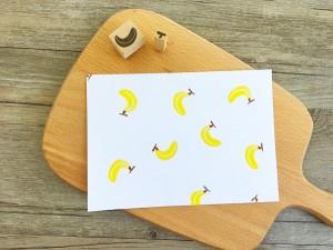 【原創印章系列】《香蕉》水果套色印章/用小創意玩出大樂趣~獨家限定販售中