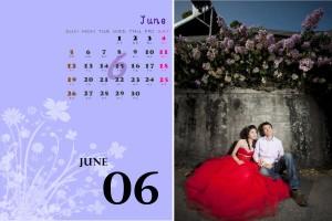 【月曆系列】客製化照片三角桌曆(套模板)