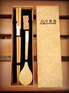 【禮贈品系列】《案例分享*林務局-臺東林區管理處*客製化木料餐具組》
